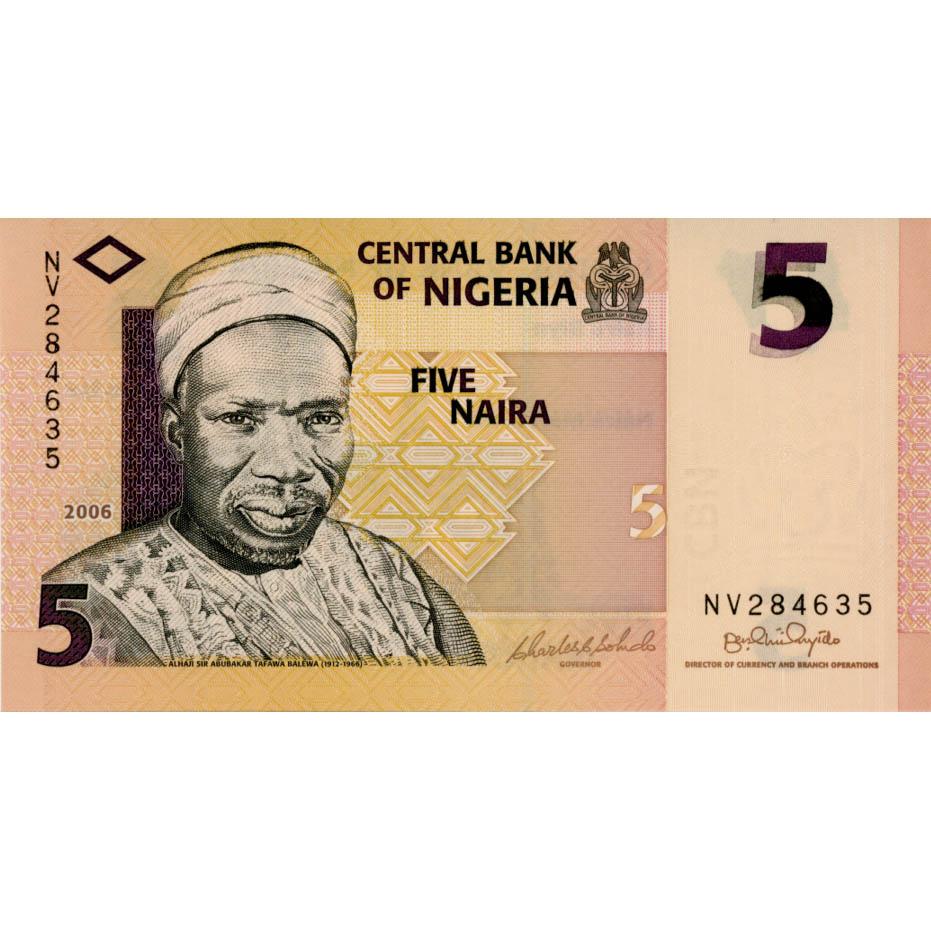 2006 P-32a Unc Nigeria 5 Naira